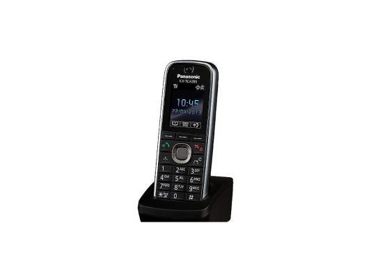 Дополнительная микросотовая трубка Panasonic DECT KX-TCA285RU черный телефон dect yealink w52h dect дополнительная sip трубка