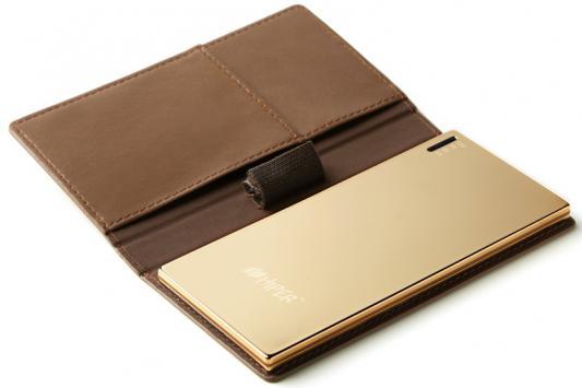 Портативное зарядное устройство HIPER Power Bank SLIM3500 3500мАч золотое зеркало