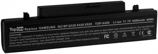 Аккумулятор для ноутбука Samsung N210, N210P, NP-N210, N218, N218P, N220P, N220, NB30, X318, X320, X418, X420, X520, Q330 4400мАч 11.1V TopON TOP-X420 внешний аккумулятор samsung eb pn930csrgru 10200mah серый