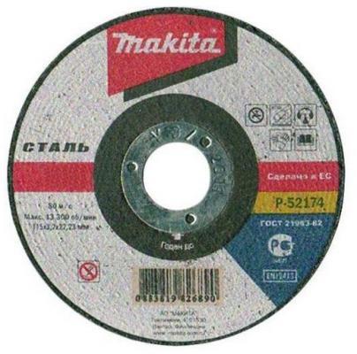 Отрезной диск Makita 115х22.2х3.2мм по металлу P-52174 электроножницы по металлу makita jn1601