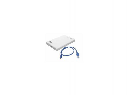 "Внешний контейнер для HDD 2.5"" SATA Orient 2562 U3 USB3.0 бело-серебристый"