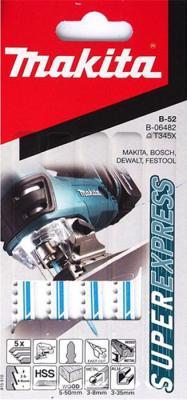 Лобзиковая пилка Makita B-06482 5шт пилка makita b51 hss по металлу 5шт b 06476