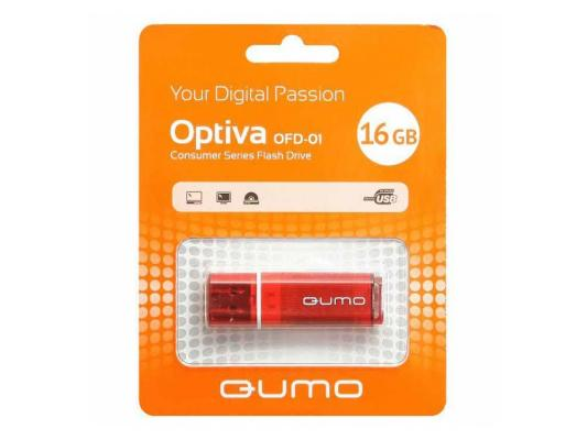 Флешка USB 16Gb QUMO Optiva 01 USB2.0 красный QM16GUD-OP1-red флешка usb 16gb qumo optiva 01 usb2 0 белый qm16gud op1 white