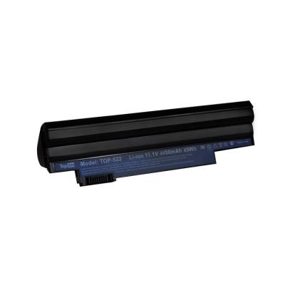 Аккумуляторная батарея TopON TOP-522 5200мАч для ноутбуков Acer Aspire One D255 D260 522 722 Happy Happy2 Gateway LT25 аккумулятор для ноутбука acer aspire one 522 722 d255 d257 d260 d270 happy emachines em355 gateway lt23 lt2304c series 4400мач 11 1v topon top ac al10