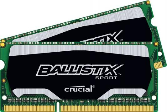 Оперативная память для ноутбуков SO-DDR3 8Gb(2x4Gb) PC3-12800 1600MHz Crucial BLS2C4G3N169ES4CEU unbuffered Retail