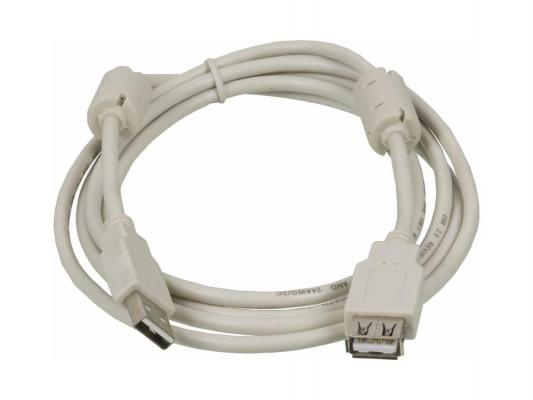 Кабель удлинительный USB 2.0 AM-AF 1.8м Ningbo с ферритовыми кольцами