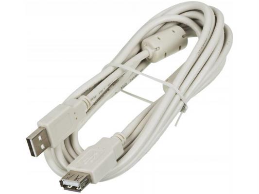 Кабель удлинительный USB 2.0 AM-AF 3.0м Ningbo с ферритовыми кольцами Blister box