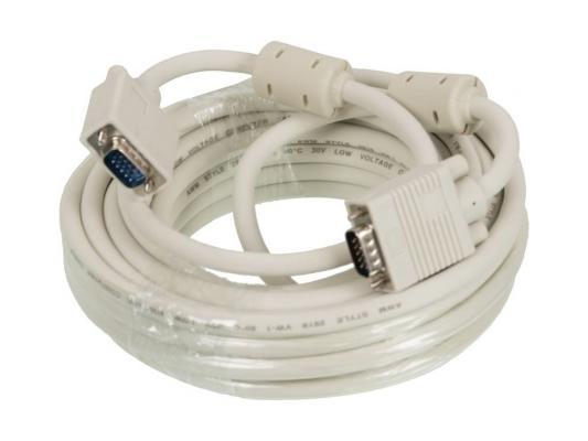 Фото - Кабель VGA 10м Ningbo 2фильтра CAB016S-10m Blister box кабель vga 1 8м ningbo cab016 06 круглый белый