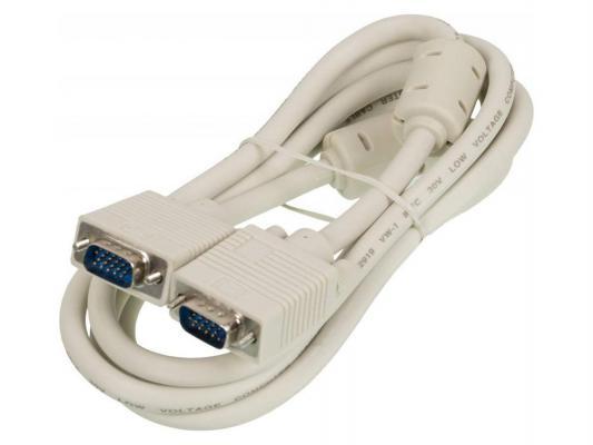 Фото - Кабель VGA 1.8м Ningbo 2 фильтра CAB016S-06F Blister box кабель ningbo cab016s 06f vga m vga m 1 8м феррит кольца