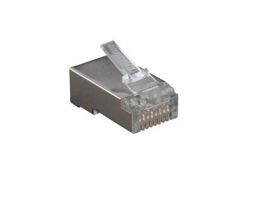 Разъем Hyperline PLUG-8P8C-U-C6-SH RJ-45 8P8C категория 6 экранированный