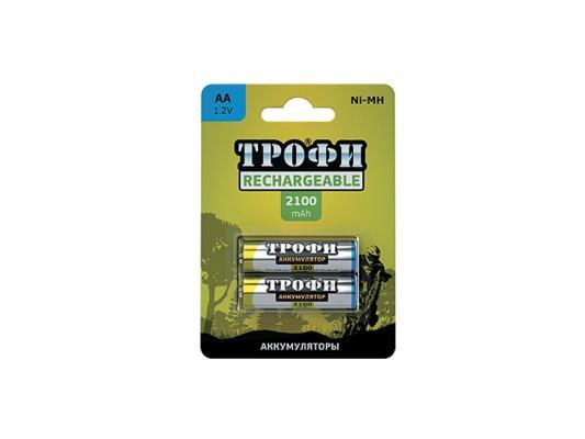 Аккумулятор ТРОФИ HR6-2BL 2100 mAh AA 2 шт аккумулятор aa videx hr6 600 mah 2bl