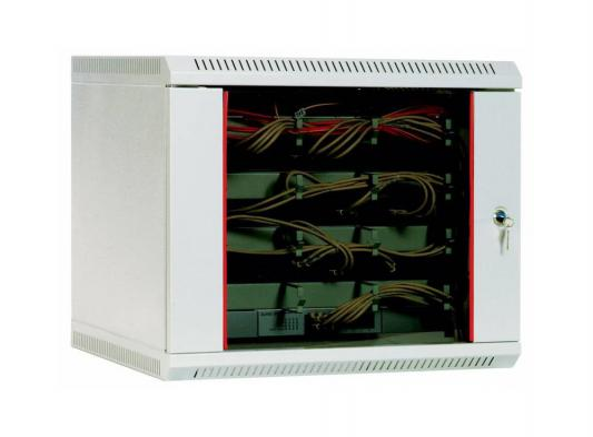 Шкаф настенный 9U ЦМО ШРН-9.650 600x650mm дверь стекло цена и фото