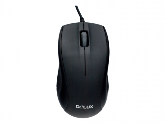 Мышь проводная Delux DLM-375 чёрный PS/2
