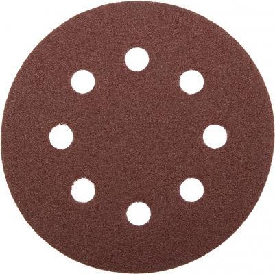 Круг шлифовальный Зубр МАСТЕР 115мм 8 отверстий Р80 5шт 35560-115-080 цена