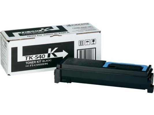 Картридж Kyocera TK-540K для FS C5100DN черный 4000стр картридж kyocera tk 540k 1t02hl0eu0