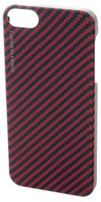 Чехол (клип-кейс) Gmini mCase Carbon для iPhone 5 iPhone 5S красный MCI5C1