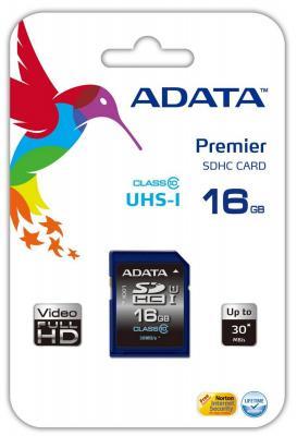 Карта памяти SDHC 16Gb Class 10 A-data ASDH16GUICL10-R
