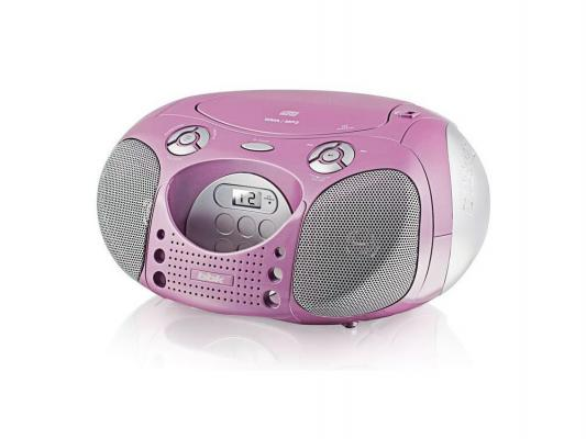 Магнитола BBK BX110U розово-серебристый