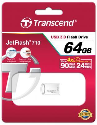 Купить со скидкой Флешка USB 64Gb Transcend Jetflash 710S серебристый TS64GJF710S