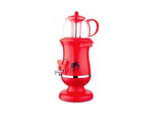 Самовар Великие реки Тула-5 2200 Вт 2.5 л пластик красный