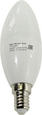 Лампа светодиодная свеча Эра B35-7w-827-E14 E14 7W 2700K