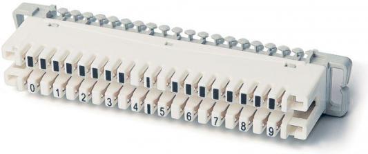 Плинт размыкаемый Hyperline на 10 пар маркировка 0-9 KR-PL-10-BRK-0 rigal маркировка