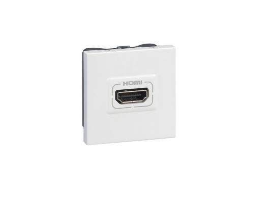 Розетка HDMI Legrand Mosaic 2 модуля белый 78768