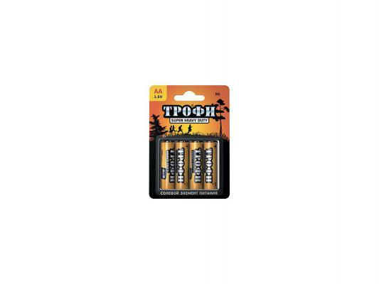 Батарейки ТРОФИ R6-4BL AA 4 шт батарейки duracell basic lr6 4bl aa 4 шт