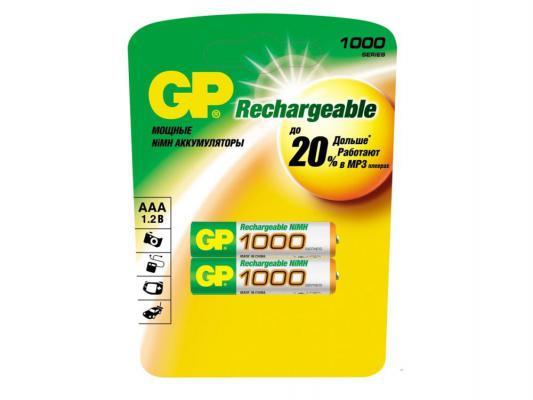 Аккумулятор GP 100AAAHC-CR2 1000 мАч AAA 2 шт аккумулятор varta 05703301412 1000 мач aaa 2 шт
