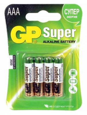 Батарейки GP Super Alkaline AAA 4 шт 24ARS-2SB4