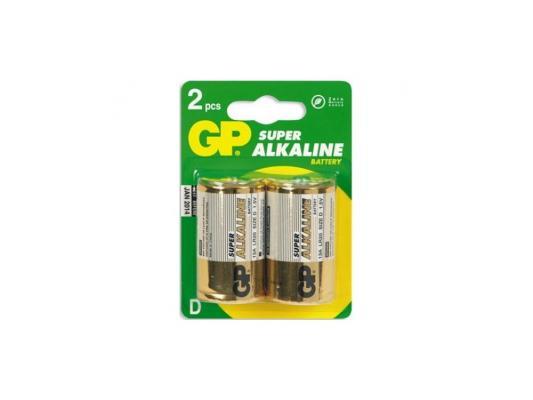 Фото - Батарейки GP 13A-CR2 LR20 2 шт батарейки sonnen alkaline d lr20 13а алкалиновые комплект 2 шт в блистере 451091