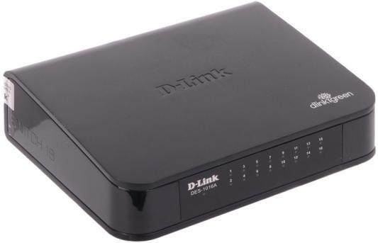 Коммутатор D-LINK DES-1016A/E1B неуправляемый 16 портов 10/100Mbps