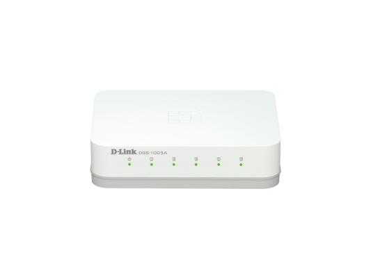 Коммутатор D-LINK DGS-1005A/C1B неуправляемый 5 портов 10/100/1000Mbps