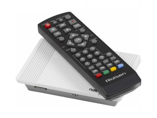 Тюнер цифровой DVB-T2 Rolsen RDB-522w HDMI белый