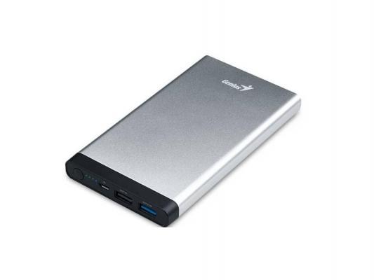 Мобильный аккумулятор Genius для планшетных компьютеров ECO-U1027 10000mAh серебристый 39800013101