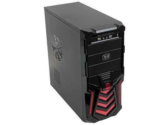 Корпус ATX 3Cott 3C-ATX110GR 500 Вт красный чёрный корпус системного блока 3cott 3c atx j107 black 3cott 3c atx j107