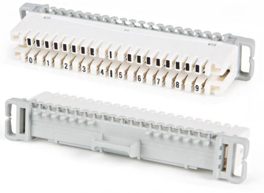 Плинт размыкаемый на 10 пар Hyperline KR-PL-10-BRK-1 на 10 пар плинт соединительный hyperline на 10 пар маркировка 1 0 kr pl 10 con 1