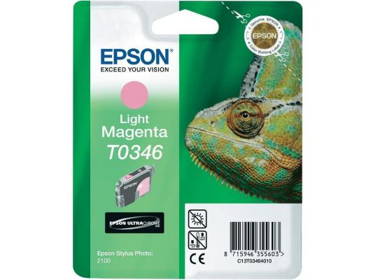 Тонер-Картридж Epson C13T03464010 для St Ph 2100 светло-пурпурный 440стр картридж epson t009402 для epson st photo 900 1270 1290 color 2 pack