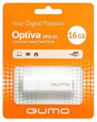 Флешка USB 16Gb QUMO Optiva 01 USB2.0 белый QM16GUD-OP1-white флешка usb 16gb qumo 16gb lex белый qm16gud3 lex
