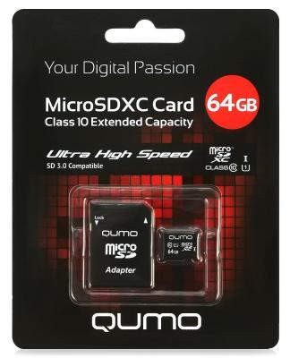 Карта памяти Micro SDXC 64Gb class 10 UHS-I QUMO QM64GMICSDXC10U1 + SD adapter fernaz mohd sadiq behlim m n kuttappa and u s krishna nayak maxillary protraction in class iii cases