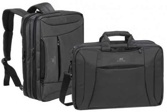 Сумка для ноутбука 16 Riva 8290 полиэстер черный сумка для ноутбука 10 riva 8010 полиэстер черный