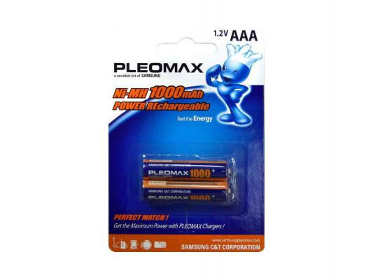 Аккумулятор Samsung Pleomax HR03-2BL 1000 мАч AAA 2 шт