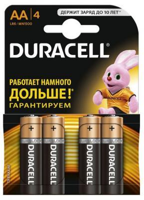 Батарейки Duracell Basic LR6-4BL AA 4 шт батарейки duracell lr6 4bl basic aa 4шт