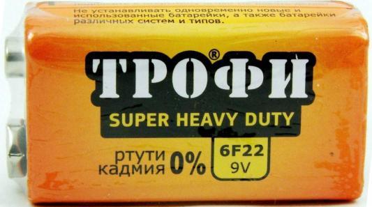 Батарейка ТРОФИ Крона 6F22 1 шт цена