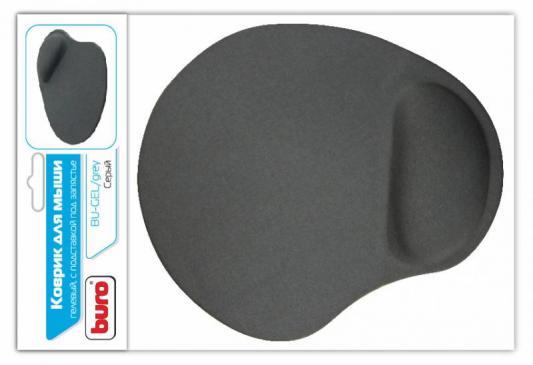 Коврик для мыши Buro BU-GEL 230х205х25мм гелевый серый