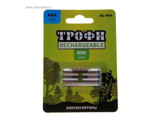 Аккумулятор ТРОФИ HR03-2BL 800 mAh AAA 2 шт стоимость