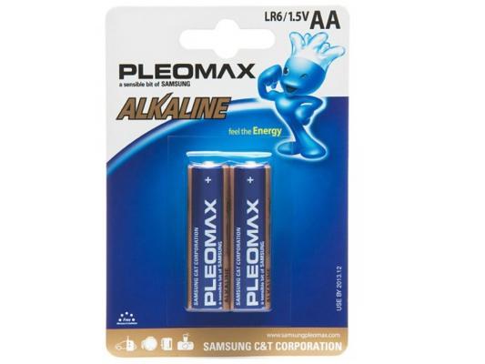 Батарейки Samsung Pleomax LR6-2BL AA 2 шт samsung pleomax 1014 4aa aaax2700mah car adapter