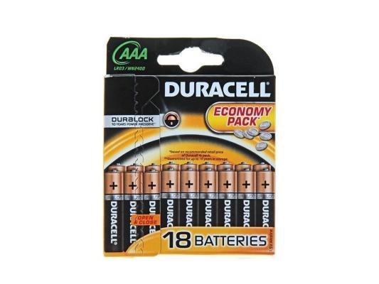 Батарейки Duracell LR03-18BL AAA 18 шт цены онлайн