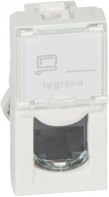 Розетка Legrand Mosaic RJ-45 UTP кат.5e 1 модуль белый LCS2 76551