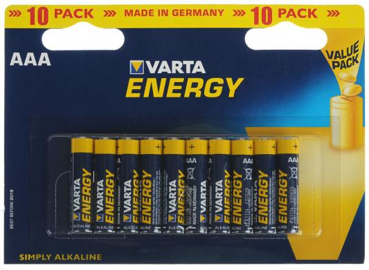 Батарейки Varta Energy AAA 10 шт батарейки varta energy aa 10 шт